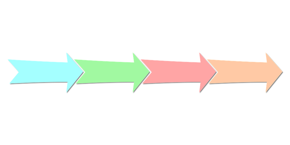 set of multi-colored arrows